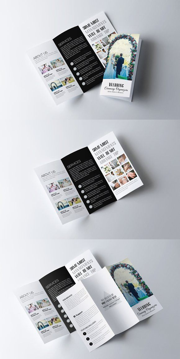 Medical infographic : Wedding Trifold Brochure Template. Creative ...