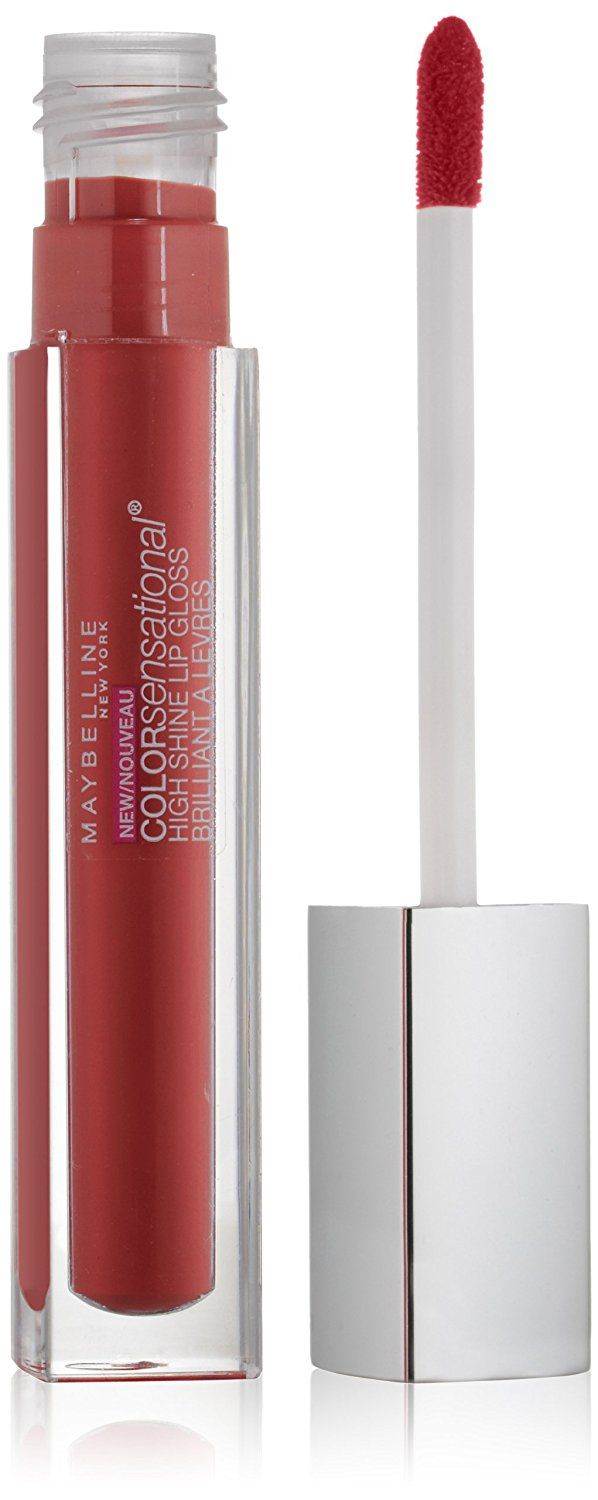 Maybelline New York Color Sensational High Shine Gloss, Gleaming Grenadine, 0.17 Fluid Ounce ** You can find out more details at the link of the image. (Note:Amazon affiliate link)