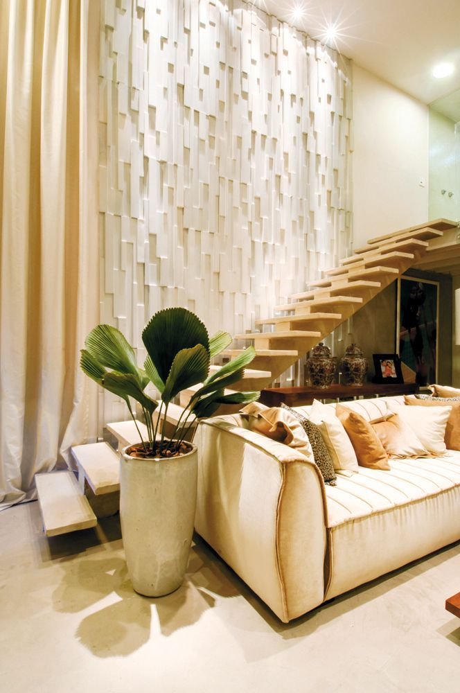 25 timas ideias sobre parede 3d no pinterest for Revestimento 3d sala de estar