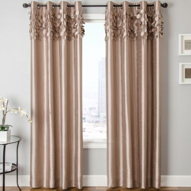 Lazio Faux Silk Grommet Top Curtain Panel Found At Jcpenney 2 Story Window Drapes Pinterest
