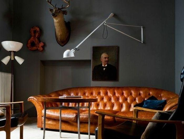 les 25 meilleures id es de la cat gorie canap s en cuir marron sur pinterest les salons de. Black Bedroom Furniture Sets. Home Design Ideas