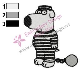 Guilty Brian Family Guy Embroidery Design