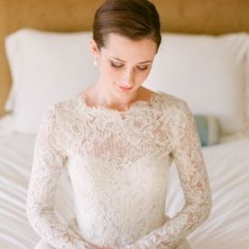 There's something so timely and elegant about lovely long sleeves on a bridal gown. Image: via Snippet&Ink