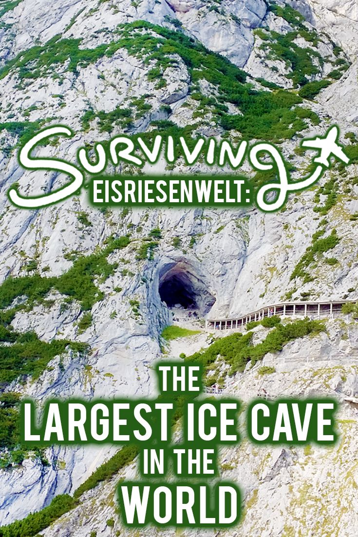 Eisriesenwelt is the largest ice cave in the WORLD and it's located just an hour outside of Salzburg in Werfen Austria!