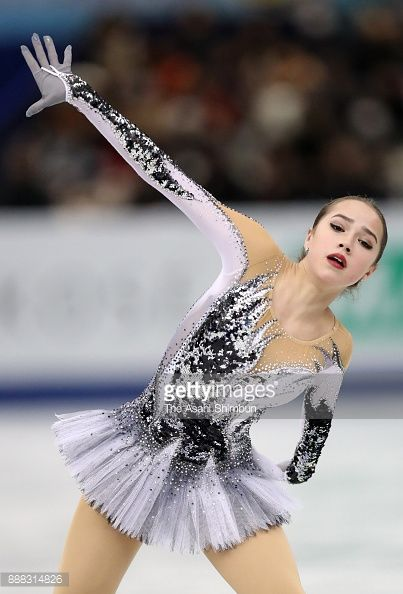 Alina Zagitova of Russia competes in the Ladies Singles Short Program during day two of the ISU Junior & Senior Grand Prix of Figure Skating Final at Nippon Gaishi Arena on December 8, 2017 in...