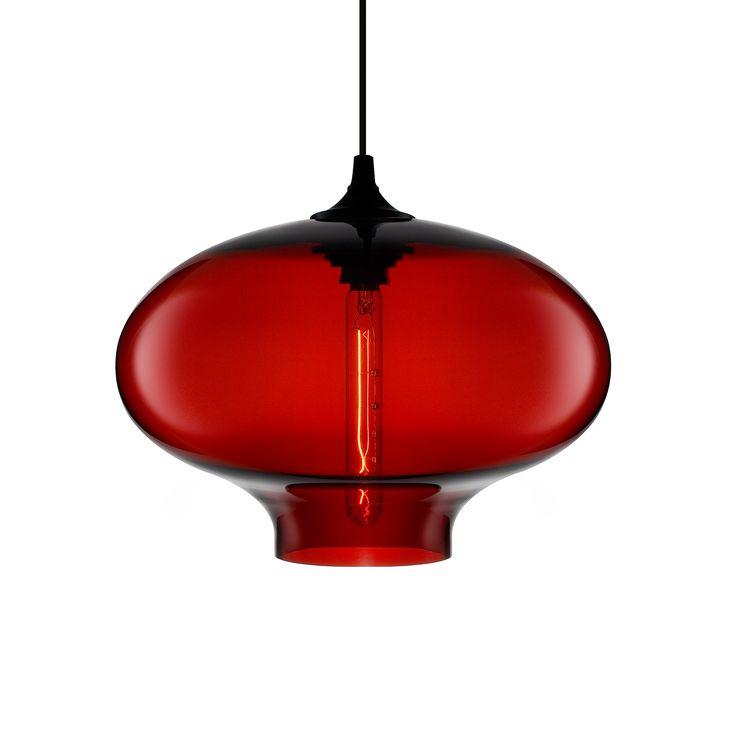 Modern Red Pendant Lighting : Best crimson niche pendants images on