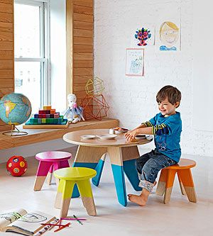 Decorate Your Home on a Budget: Painted Play Table (via Parents.com)