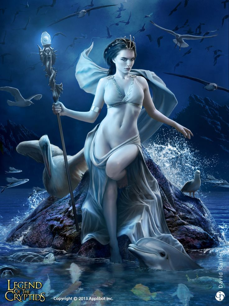 In ancient Greek mythology, Amphitrite was a sea-goddess and wife of Poseidon. Under the influence of the Olympian pantheon she became merely the consort of Poseidon, and was further diminished by poets to a symbolic representation of the sea. (In Roman mythology her counterpart is Salacia the goddess of saltwater and the consort of Neptune; another comparatively minor figure).