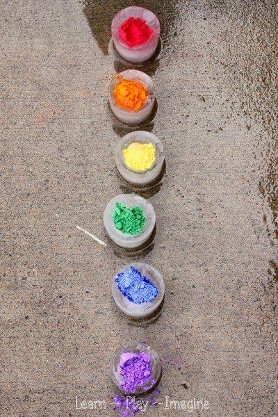 How to make frozen rainbow eruptions