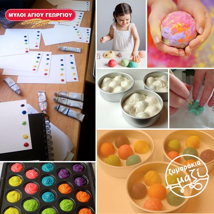 Θέλετε να «περιορίσετε» τις καλλιτεχνικές πινελιές που αφήνει το ζυμαράκι σας σε τυχαίες γωνίες του σπιτιού; Φτιάξτε του τον δικό του «καμβά». Στο πλαϊνό μέρος από ένα λευκό Α3 χαρτόνι, αφήστε γενναιόδωρες κηλίδες χρωμάτων σε κάθετη ευθεία και δώστε του πινέλα και μολύβια, για να αξιοποιήσει την φαντασία του δημιουργικά!!  #myloiagiougeorgiou #becreative #painting #fan