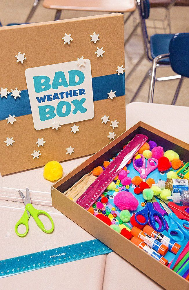 Get snow day ready with this fun craft box idea! Compile their favorite crafting supplies for this special occasion. Fun and easy to make! #fiskars #kidscrafts #crafts