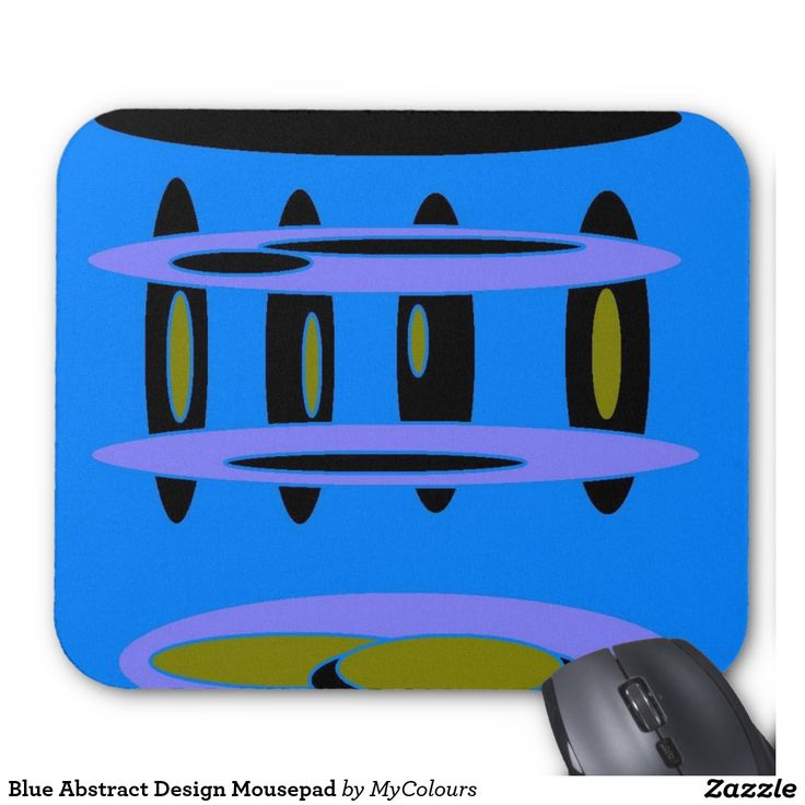 Blue Abstract Design Mousepad