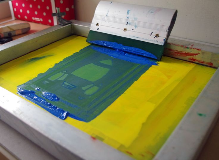 ©Helen J Taylor Design Screen Printing Rocket stencil