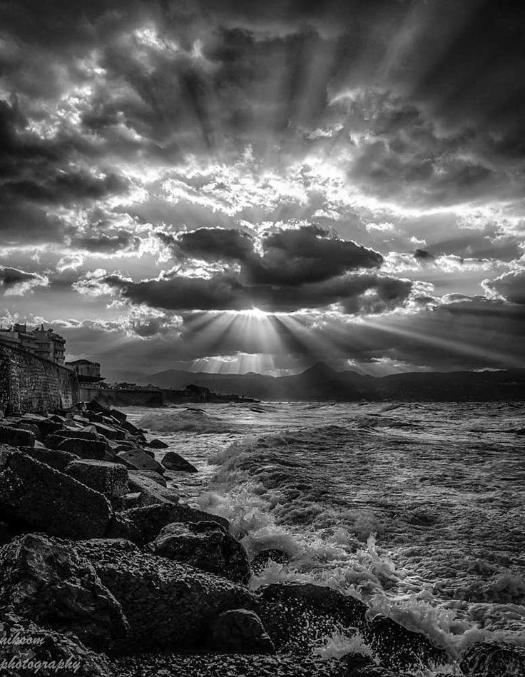 Sun Rays By Nikos Somarakis On 500Px  Black  White -9801