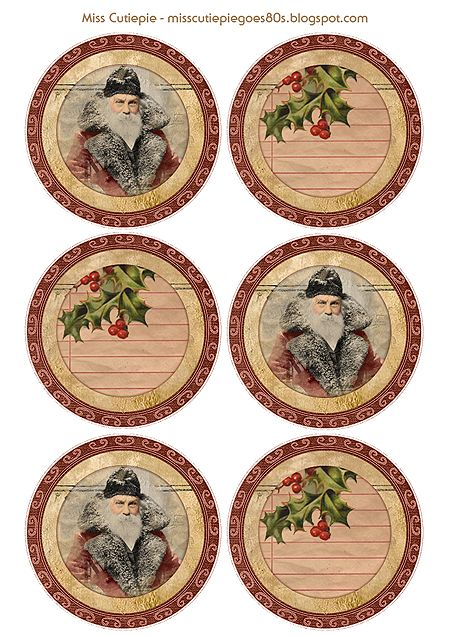 Free - Printable Vintage Christmas Gift tags