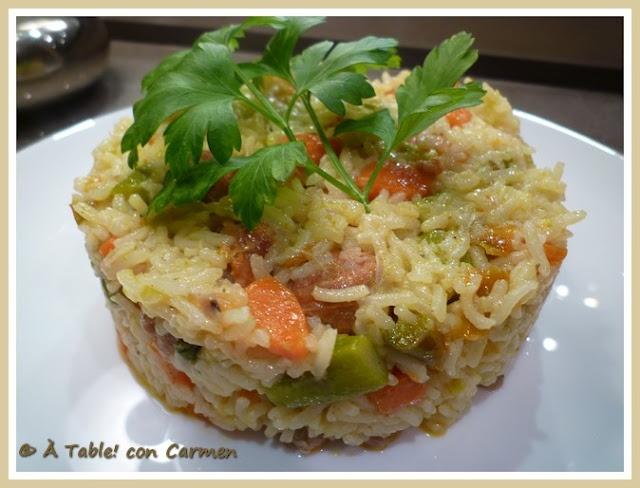 Arroz al Curry con Verduras Salteadas