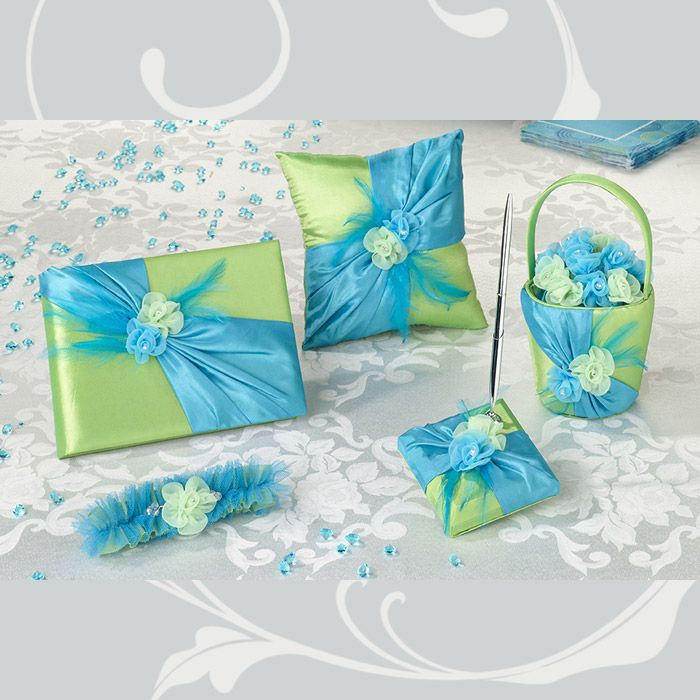 84 best matching wedding accessory sets images on pinterest blue green wedding collection junglespirit Images