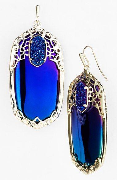 Dazzling Blue Earrings