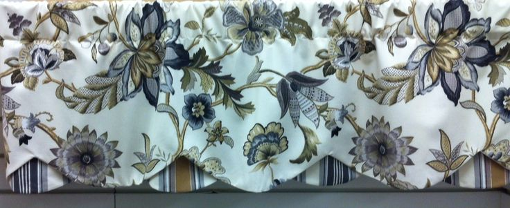 """Beautiful Azahara 50""""w Petticoat Valance in Taupe and Gray for $49.99. To Order Call toll-free 877-722-1100"""