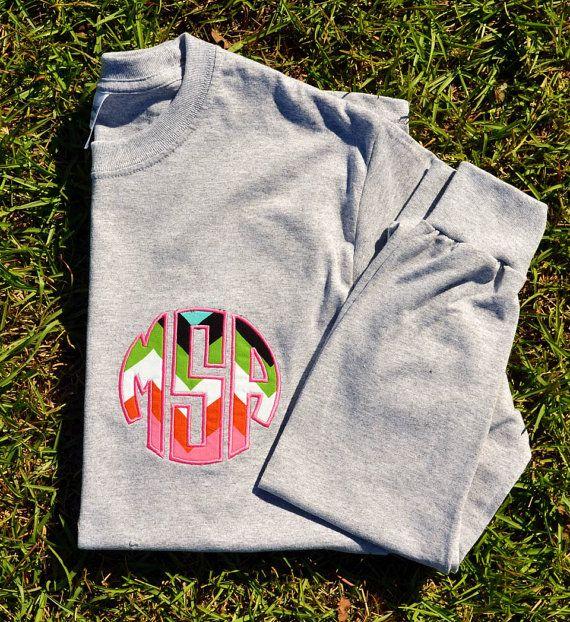 Custom Initial Monogram Long Sleeve shirt! SO MANY OPTIONS!! on Etsy, $25.00