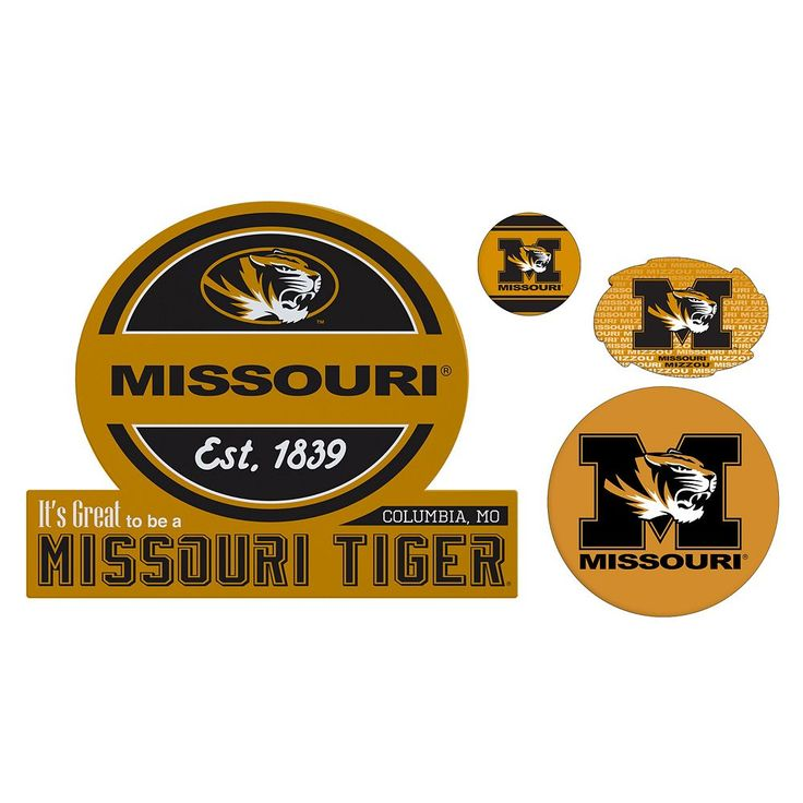 Missouri Tigers Game Day 4-Piece Magnet Set, Multicolor