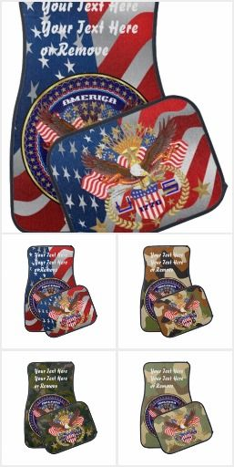 0-1- Car Mats Set 1 Style 1 Be Patriotic Best Holiday Election Gift