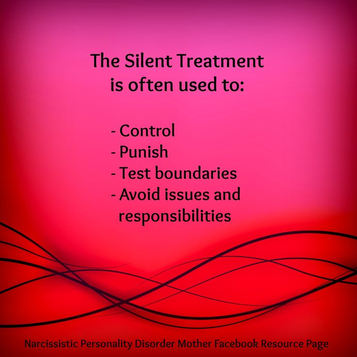 The Narcissist's Silent Treatment by Gail Meyers on Narcissistic Abuse: Echo Recovery