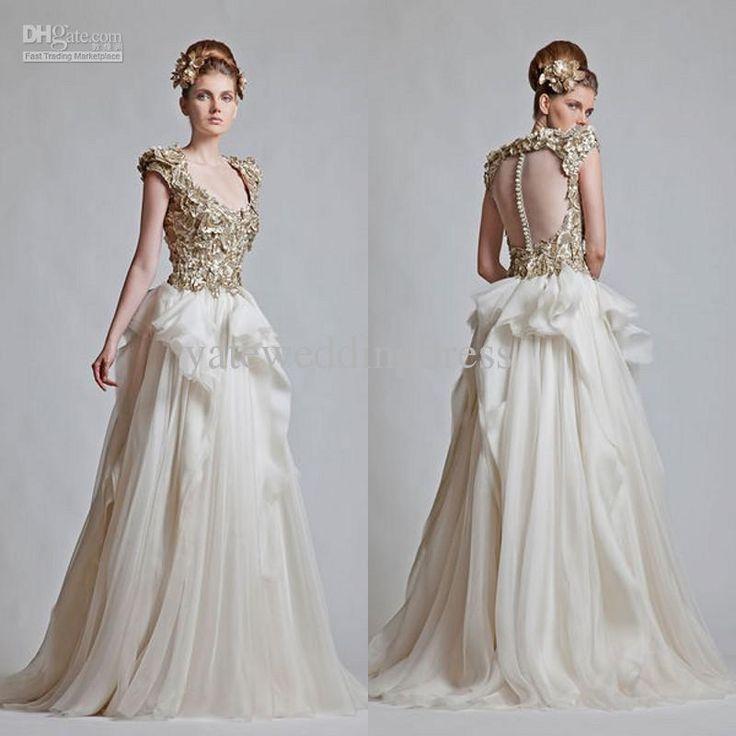 cheap 2013 fall scoop golden appliques a line cap sleeve wedding dresses in dubai arabic wedding dress 2013 wedding dresses as low as 12376