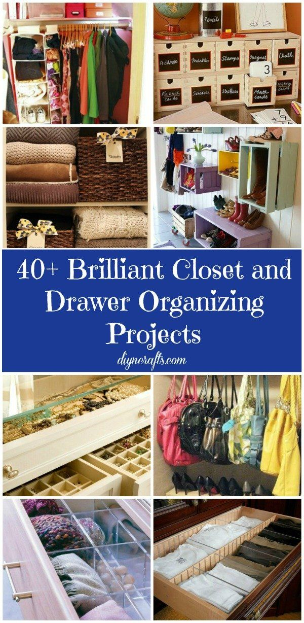 40 Brilliant Closet and Drawer Organizing Projects – DIY & Crafts