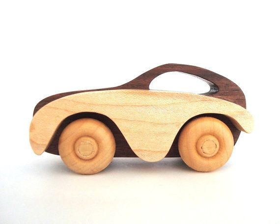 Wooden Children's Toy Car Wood Waldorf Toy Cars and Trucks