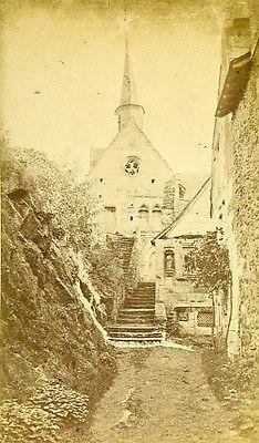 Chapel ND Behuard 49170 Angers France Old CDV Photo 1870