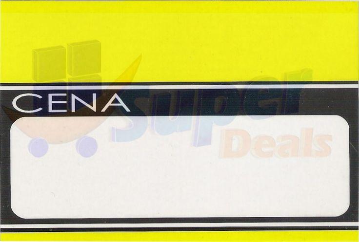 Cena laminowana duża na szpilkę, 70 x 110 mm -50 szt
