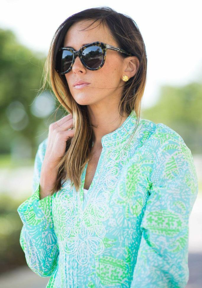 Lilly Pulitzer Sarasota Beaded Tunic worn by @Haley Shepherd | Sequins and Things