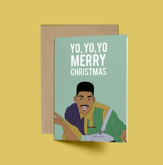 Will Smith YO YO YO Merry Christmas Christmas Card by GREETYOSELF