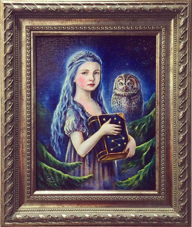 """Eeva Nikunen (@eevanikunen) on Instagram: """"'Heart of the Night' original oil painting is currently on display at the WorldCon 75 Art Show in…"""""""