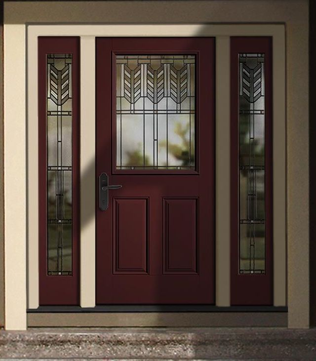 Red Door With Glass : Best images about front doors on pinterest craftsman