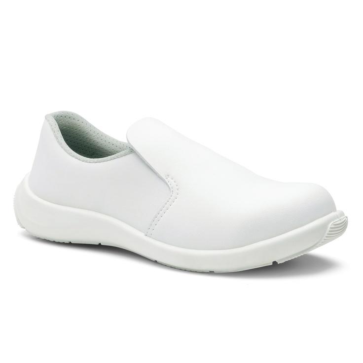 Chaussures de sécurité S.24 Ligne Executive Modèle Bianca Blanc Réf. 8932 • Tige synthétique TEXLIGHT blanc • Doublure textile • Embout acier • Semelle anti-perforation inox • Semelle extérieure TPU light • Semelle intérieure SENSATION+