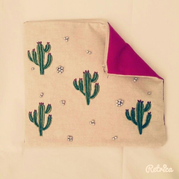 Handmade bag- summer cactus-Dressedlove