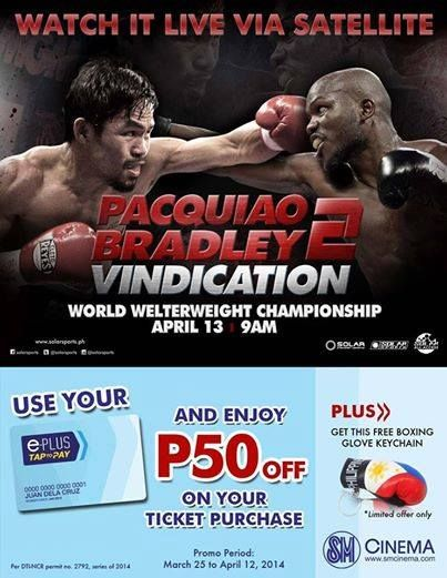 Time for Vindication! It's Pacquiao-Bradley 2 on April 13 here at SM CITY SAN LAZARO SM Cinema! Buy your tickets NOW and watch the fight LIVE! Let's all cheer for a Pacquiao WIN! See you all!  #smcitysanlazaroUpdates #Pacquiaobradley2 #vindication #smcinema