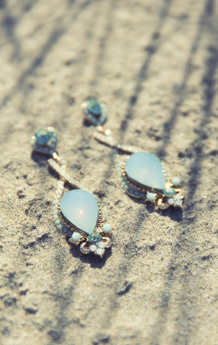 Timeless Earrings. Always Classic in Soft Minted Turqoise.