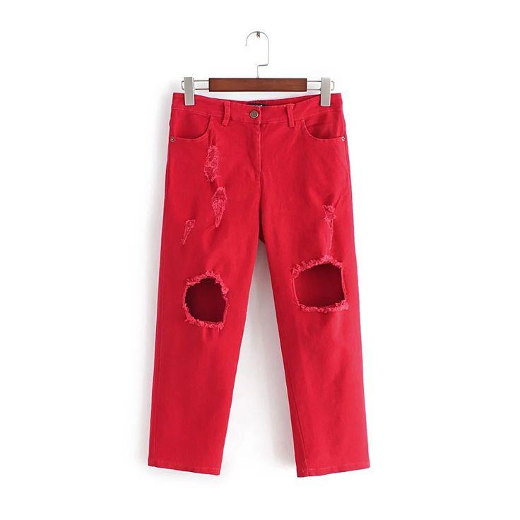 28.78$  Watch now - https://alitems.com/g/1e8d114494b01f4c715516525dc3e8/?i=5&ulp=https%3A%2F%2Fwww.aliexpress.com%2Fitem%2F2016-women-Hole-stripe-denim-jeans-cross-pants-spring-summer-Casual-ladies-Red-White-Black-Cut%2F32680535951.html - 2016 women Hole stripe denim jeans cross-pants spring summer Casual ladies Red White Black Cut out Loose Jeans 485g net weight 28.78$