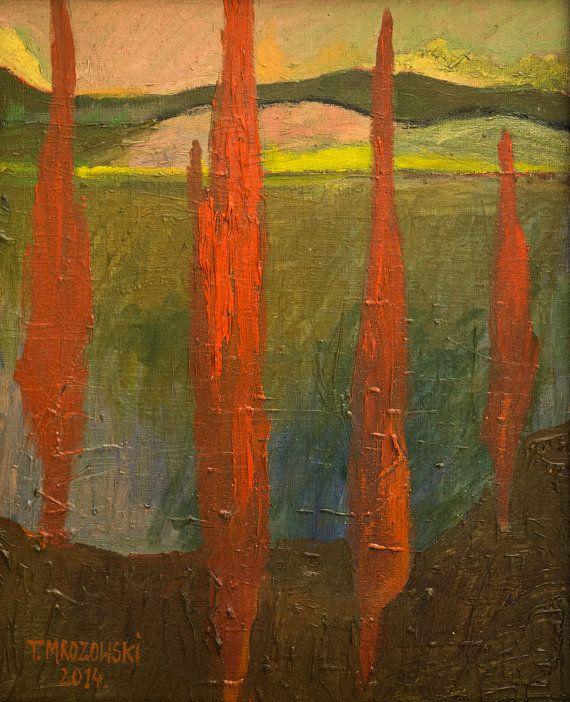Toscana Tuscany  Original oil painting by PaintingThomasMrozow
