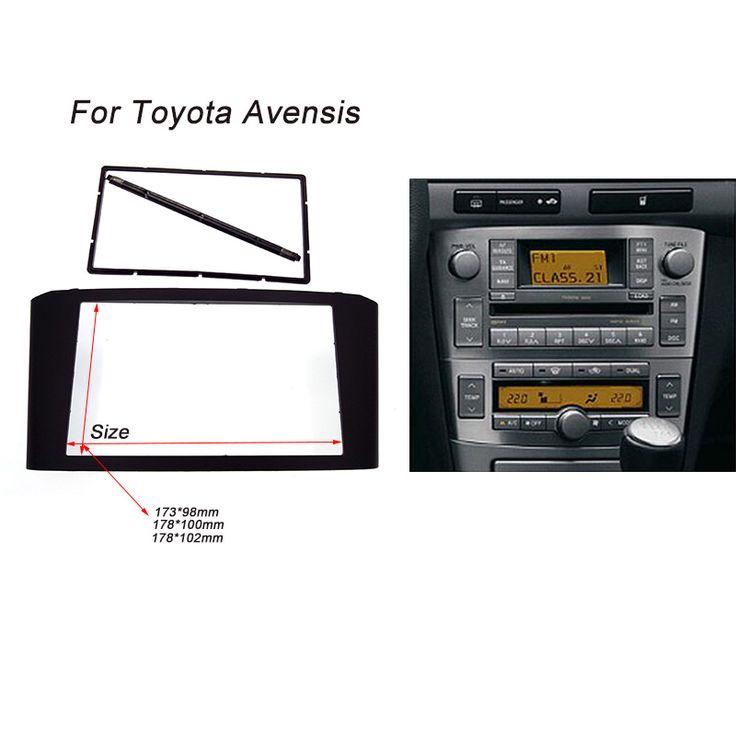 รถวิทยุป้ายสำหรับtoyota avensisป้ายหน้าร้านแผงแผ่นหน้าสเตอริโอเสียงคอนโซลหน้าฝาอะแดปเตอร์ชุดติดตัด2dinดีวีดีกรอบ