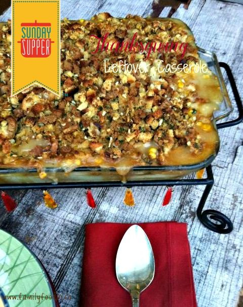 Is it crazy that I am already craving the leftovers.... Thanksgiving Leftover Casserole