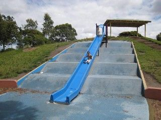 Caulfield Park playground - the long slide!