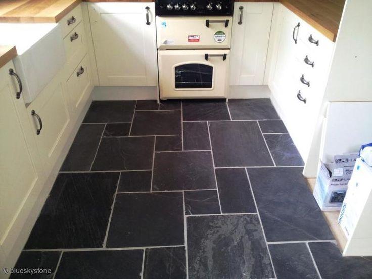 Slate Floor Flooring Wall Tiles Opus Pattern Rustic Black