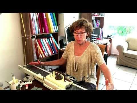 Поперечное вязание Cross-web machine knitting - YouTube
