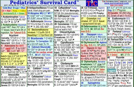 Pediatric Survival Card