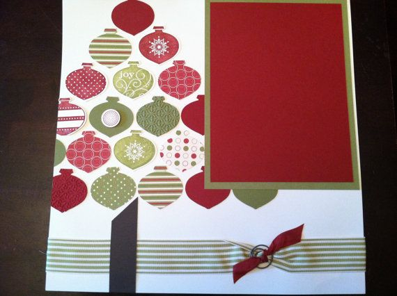 Two Page 12x12 Christmas Scrapbook Layout by StacysStampinSpot, $12.00