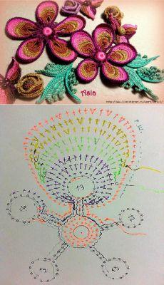 Мастер-классы к этой красоте от Аси(Галины) Вертен. Мотив «Цветик-пятицветик» Часть 2